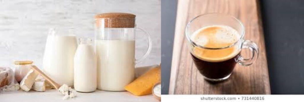 통풍에 좋은 음식은 무지방 유제품 또는 설탕 없는 아메리카노